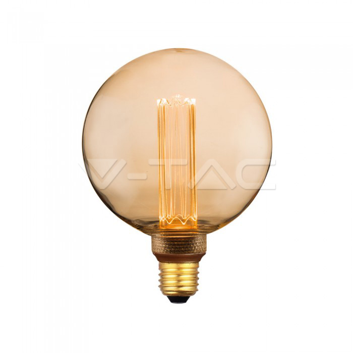 4W LED Крушка Арт Filament E27 G125 Amber Glass 1800K±200K